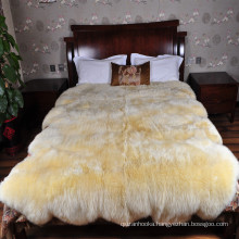Amazon hot sale high quality genuine colored real Australian 8 large sheepskin rug