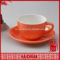 Custom antique stoneware tea cup&saucer solid color