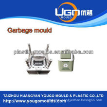 China injection plastic garbage bin mould/commodity plastic mould for garbage bi