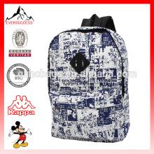 Marcas de saco superior exterior nova mochila de estudante de poliéster de design