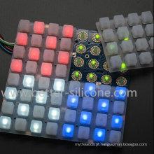 Almofada do botão da música da borracha de silicone 4X4 LED