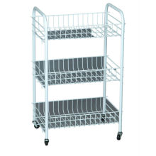 carrinho de armazenamento de banheiro e rack de carrinho