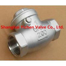 Clapet anti-retour en acier inoxydable fileté à ressort de haute qualité en Chine (H14)