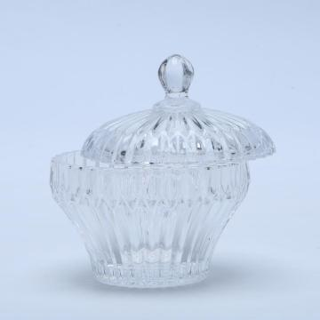 New design clear glass candy jar