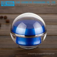 Qualidade estável de 50g de YJ-O50 linda e luxo 2 camadas azul bola de acrílico jar