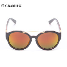 latest design round metal bridge mirror lens sunglasses China factory