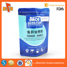 Laminated stand up plastic heat sealable foil bag for nutrition powder packaging