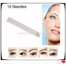 Aiguille manuelle à microbilles pour tatouage à sourcils, aiguilles permanentes stérilisées pour sourcils de maquillage
