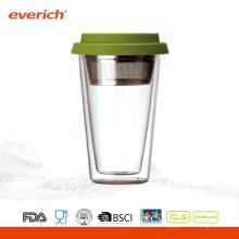 Copos de água de vidro reutilizáveis resistentes ao calor promocionais por atacado