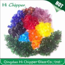 Lanscaping Verre Verre Cristal Vert Coloré Verre Décoratif