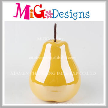 Impressive Yellow Apple Ceramic Piggy Bank Decoration