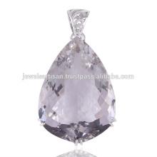 Crystal Quartz 925 Sterling Silver Pendant