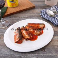 Консервированная сардина в томатном соусе (125 г, 155 г, 425 г, нормальная крышка или легкая открытая крышка)