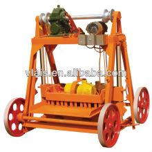 Bloque móvil que forma la máquina con los moldes, Portable QMY4-45 Brick Making Machine