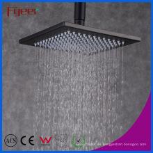 """Fyeer Classic Style - Cabezal de ducha rectangular, lluvia, 8 """", negro"""