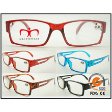 Classical and Special Design with Hollowed-out Temple Reading Glasses (ZX003)