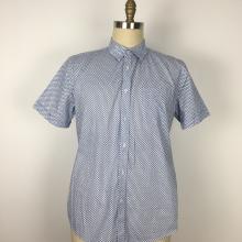Polyester Baumwolle Print Kleine Tasche Herren Shirts
