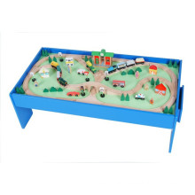 Funny 100pcs Custom Wood Train Table with 2 Drawers