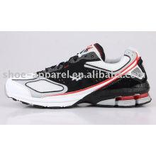 black mens buffering running shoes
