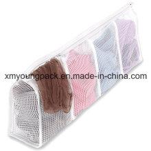 Fashion White Nylon Mesh Strumpfwaren Wäsche waschen Bag