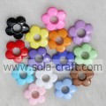 20MM Plastic Flower Bead with 1.5MM Hole for Hair Decoration with Different Colors