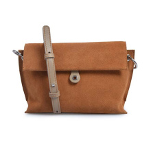 Cross Over Purse Brown Leather Purse Zipper Bag