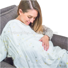 """Manta 100% orgânica do envoltório de Muslin do algodão de 47x47 """"cobertor do bebê"""