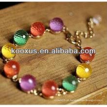 Novos produtos 2014 moda pulseira pulseira folheados braceletes pulseira encantos
