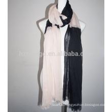 Fashion 100% viscose contrast color scarf