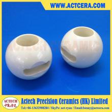 Mecanizado de precisión de la válvula de bola de la cerámica de Zirconia y del alúmina