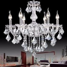 Vente chaude antique blanc cintrage cristal bougie cristal lustre pièces éclairage 81027