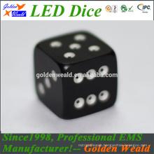 MCU control colorful LED dice