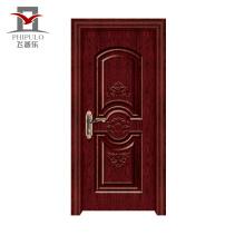 Fábrica que hace la puerta de madera de acero profesional del sitio del nuevo diseño