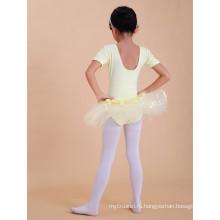 Девушки Балетное платье розовый и желтый Контрастность девочек Рождественский костюм