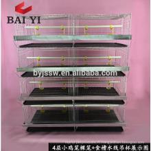 H Type, 4 cages de poulailler de poulet de couche pour des poussins vieux de poussin / jour