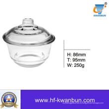 Utensilios de cocina de tazón de vidrio de cristal transparente de bizcocho Kb-Hn0366