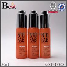 super high quality cosmetic 30ml perfume bottle orange color perfume bottle 30ml round shape perfume bottle 30ml spray