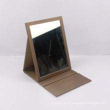 Custom made leather mirror folding gift box chinese supplier