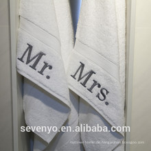 Authentische Hotel personalisierte Herr und Frau Baumwolle Handtücher BT-109