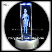 Красочные К9 лазерной гравировкой Кристалл С из светодиодов база