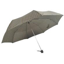 3 fold cheap china mechanism black drawing flower manual open umbrella