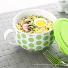 Suppenschüssel mit Silikondeckel und Griff