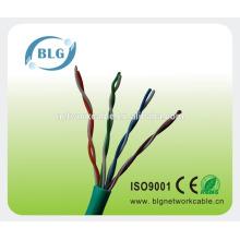 Fabricantes 24awg CCA / CCS / CU cabo do LAN do fio do ADSL do cat5e