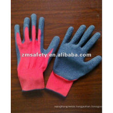 Red Latex Coated Cotton Gloves For Gardening ZMR404
