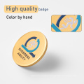 customized soft enamel pin hig  polish hstainless steel plating badges  Rubber Clutch carton design lapel pin