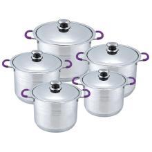 Set de batterie de cuisine bord large vente chaude 10pcs