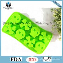 L. H S Hueso humano Halloween Molde de hielo de silicona para Popsicle Si30