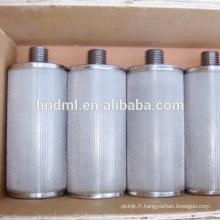 Cartouche filtrante non-tissée agglomérée industrielle de feutre de fibre d'acier inoxydable de 60 microns