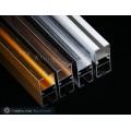 Aluminium-Vorhangschienenprofile mit gebürsteter Goldfarbe