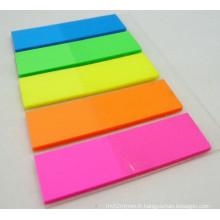 Note collante de couleur vive fluorescente réglée pour l'école et l'approvisionnement de bureau Dh-04A
